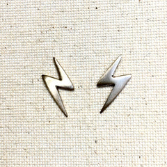 Sterling Lightening Bolt Earrings