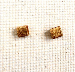 Brushed Gold Geometric Earrings
