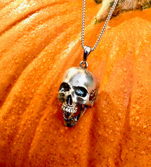 Hinged Jaw Skull Necklace