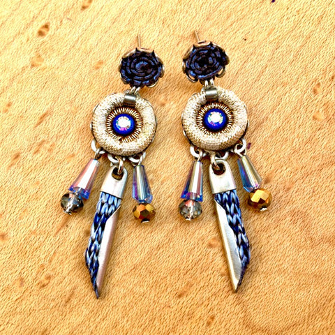 Blue Dream Weaver Earrings by Ayala Bar