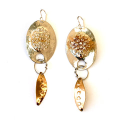 Handmade silver and Brass Earrings
