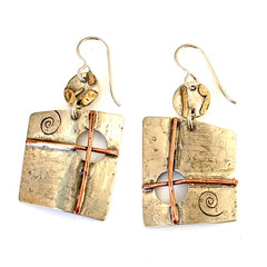 Handmade Mixed Metal Earrings