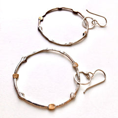 Handmade Sculptural Hoop Earrings