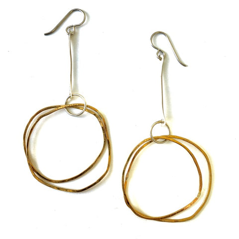 Handmade Brass & Sterling Earrings