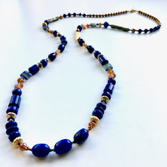 Lapis & Venetian Glass Necklace