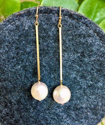 Pearl & Vermeil Earrings