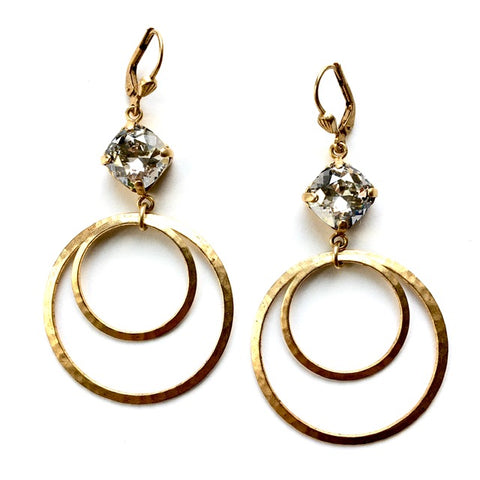 Swarovski Crystal & 14k GF Earrings
