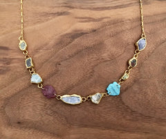 Organic Precious Stone Necklace