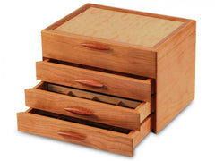 Cascade 1-3 Drawer Sapphire Jewelry Box Handmade by Michael Fisher of Heartwood Creations