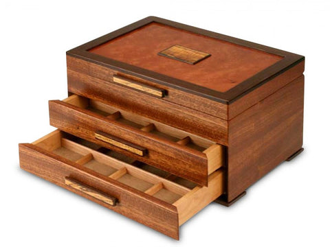 Urban Craftsman Jewelry Box - 2 Drawer Handmade by Michael Fisher of Heartwood Creations
