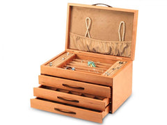 Grand Cherry Blossom Jewelry Box Handmade by Michael Fisher of Heartwood Creations