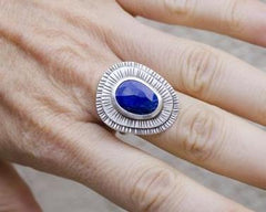 Lapis Ring in Sterling Silver