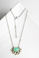 Chrysoprase Seascape Necklace