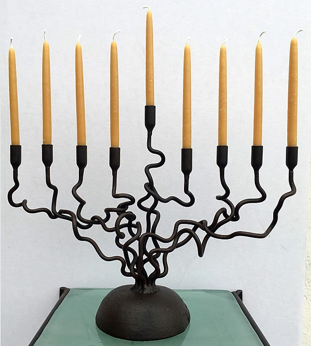 Forged Iron Candelabra / Menorah
