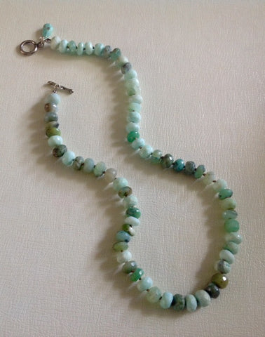 Navajo Hand Knotted Larimar Necklace