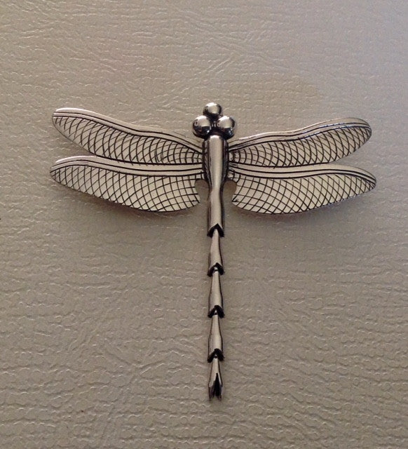 Handmade Sterling Dragonfly Pin