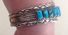 Handmade Navajo Turquoise and Sterling Bracelet