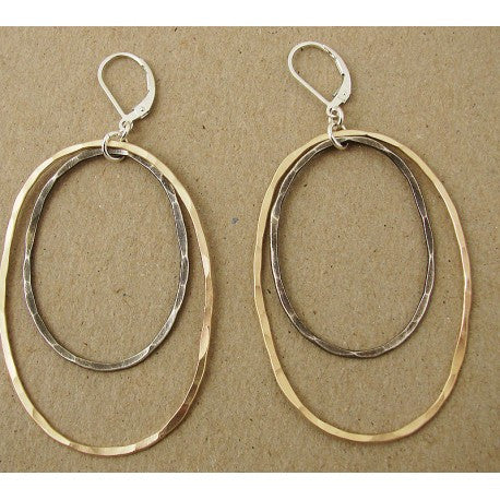 14k Gold Fill and Silver Earrings by Ian Gibson