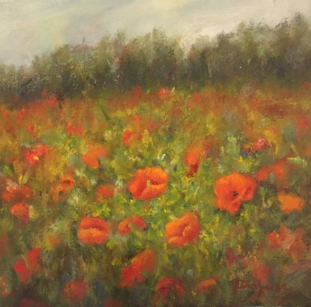 """Poppys of Hope"" Oil on Canvas by Mireille Duchesne"