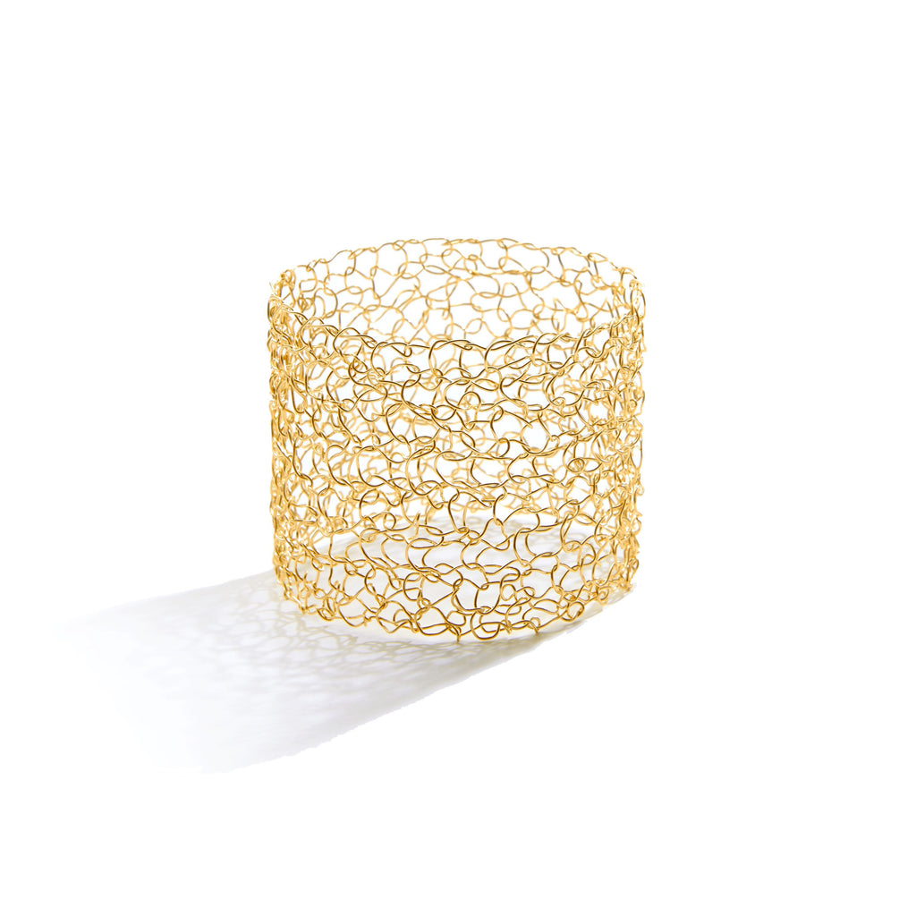 "2"" Wide Metalace Bangle Bracelet in 14k Gold Fill"