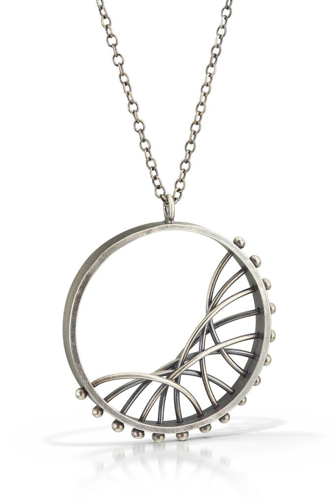 Diagonal Arc Necklace by Nikki Nation