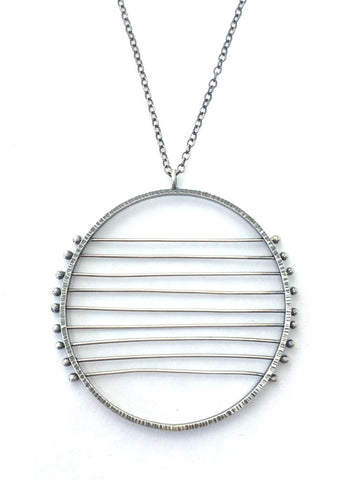 9 Line Horizon Sterling Necklace