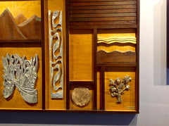 """Homage to Life"" Wall sculpture by Elizabeth Yanish Shwayder"