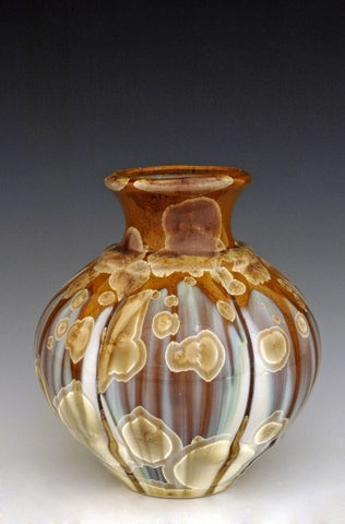 "Ceramic ""Flambeaux"" vase by Bill Campbell"