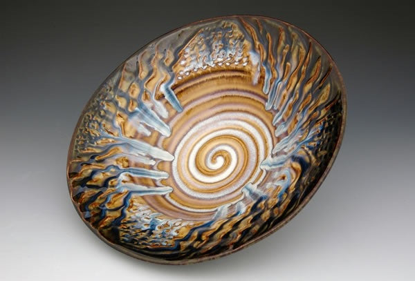 Ceramic serving bowl centerpiece by Bill Campbell