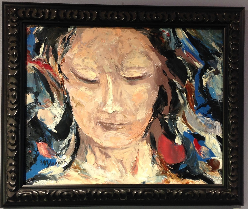 "Oil on Canvas Kwan Yin, Mother of Compassion"" by Mindy Yanish"