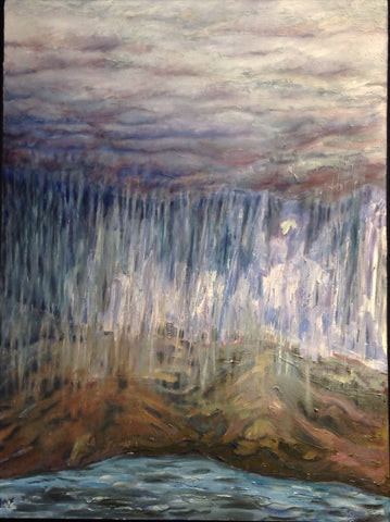 "Oil on Canvas ""Angels of The Rain"" by Mindy Yanish"