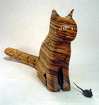 Handmade Wooden Cat Puzzle by Peter Chapman