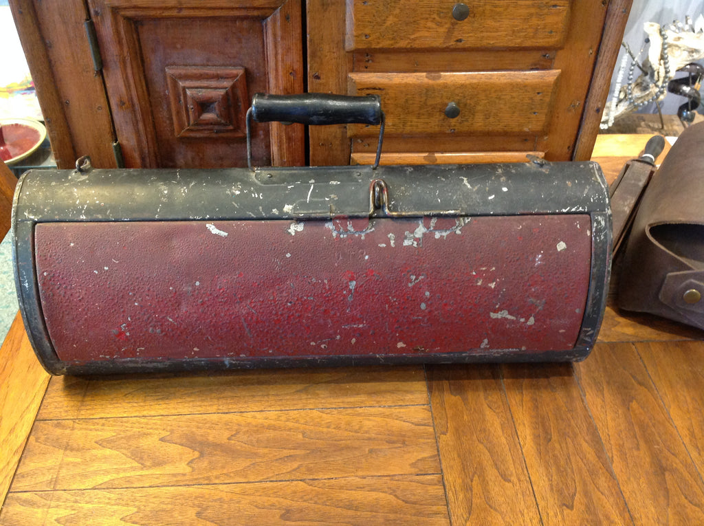 Antique Metal Couriers Bag