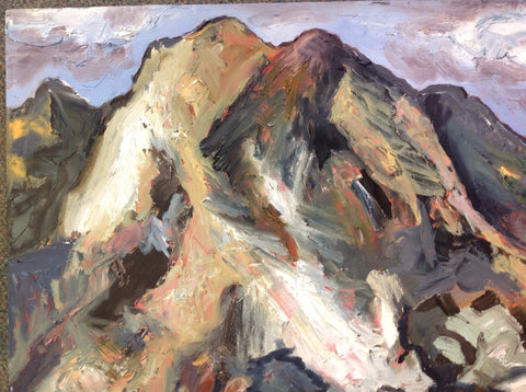 "Oil on Canvas ""Beloved Rockies"" by Mindy Yanish"
