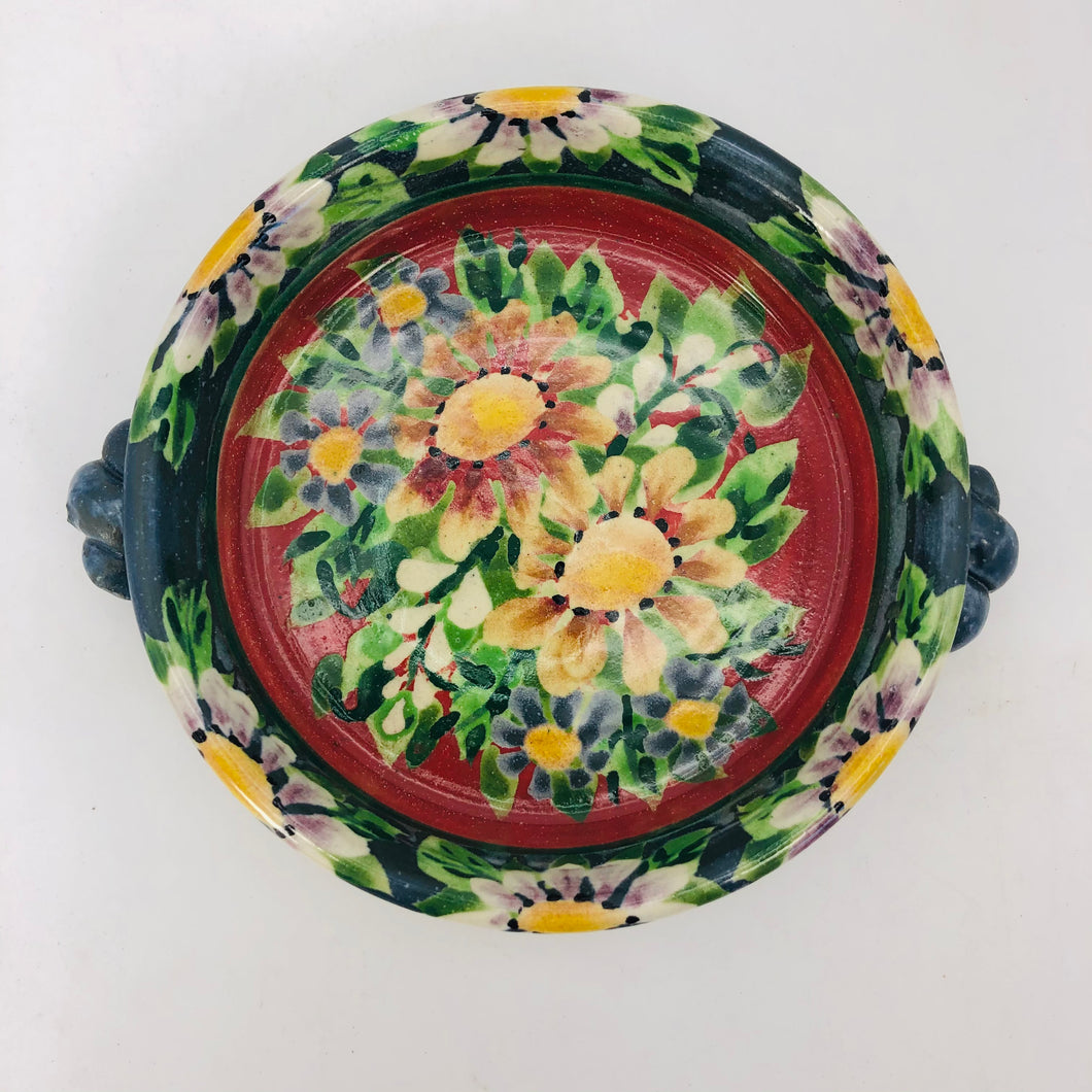 Platter with handles 4""