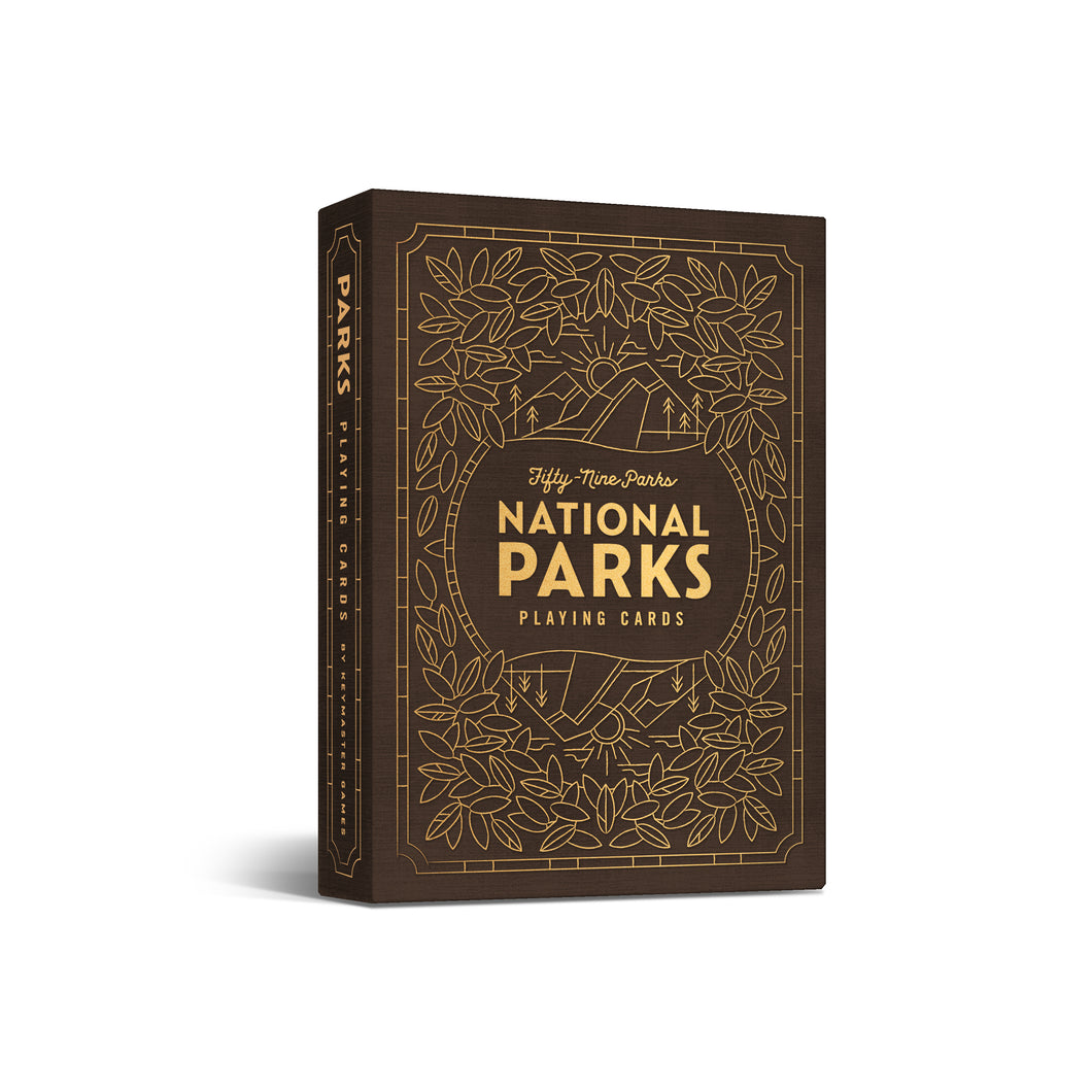 Parks Playing Cards - Brown Deck