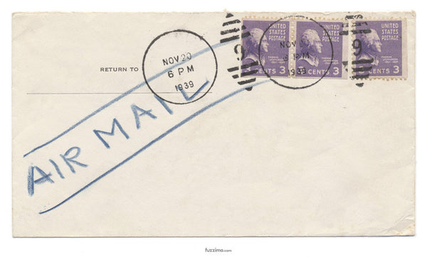 Envelope with 3 stamps