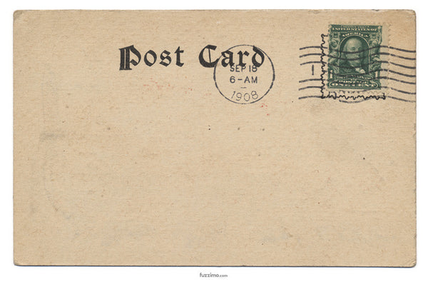 Post Card with stamps