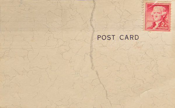 Postcard Red Stamp
