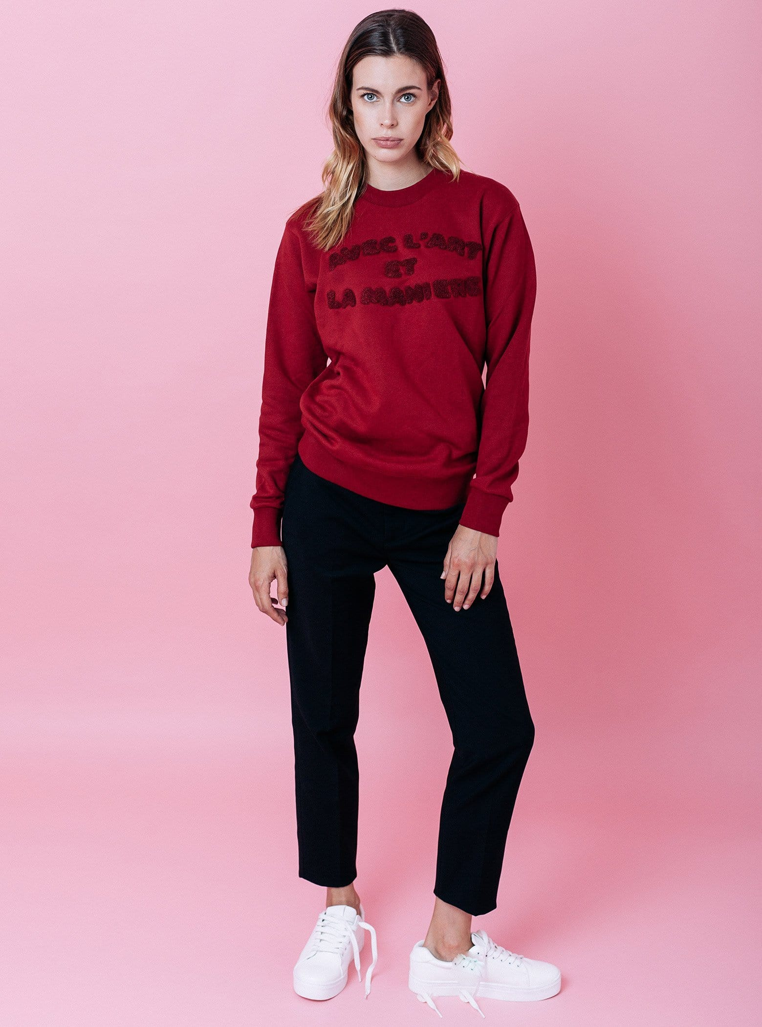 Sweat-shirt - Avec l'art - Rouge