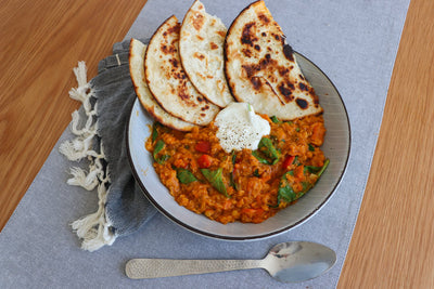 Coconut Curry Dhal & Flatbread