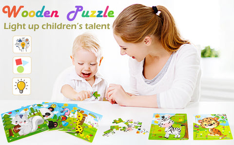 toddler preschool learning toy Kids Educational Puzzles for Toddlers Set of 6 Preschool Children Puzzles Learning Toys 6 Puzzles
