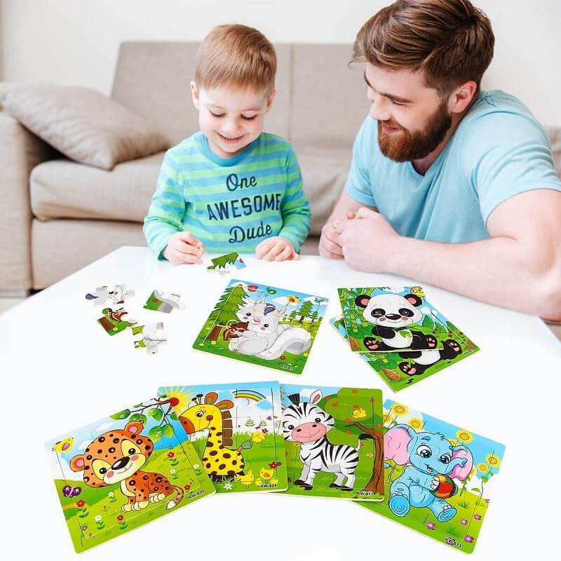 Animal Set Preschool Educational Puzzles - Learning Toy For Toddler 3+