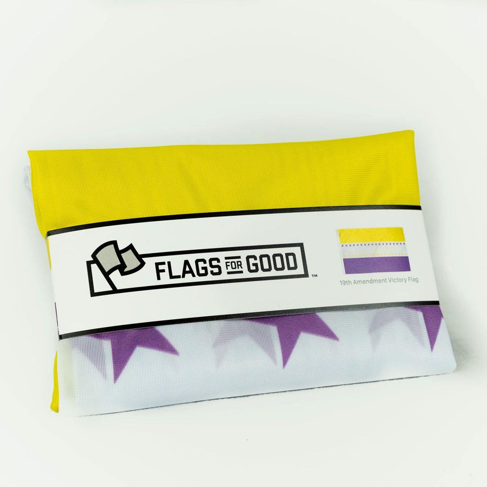 Women's Suffrage 19th Amendment Victory Flag - Flags For Good