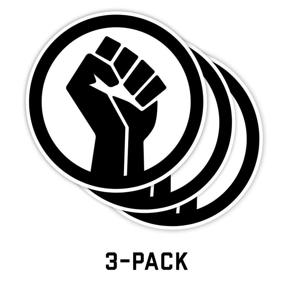 Black Lives Matter (BLM) Fist Stickers | 3-Pack - Flags For Good