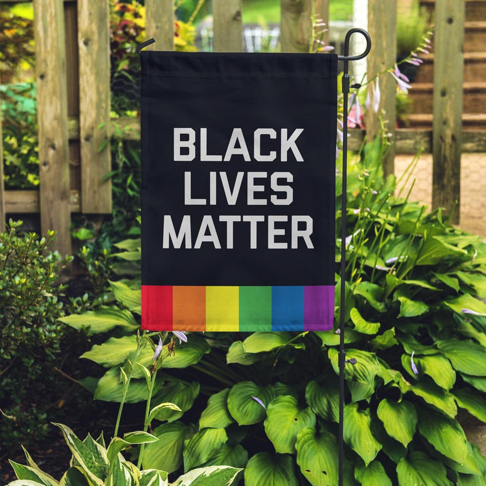 Black Lives Matter + Pride Flag