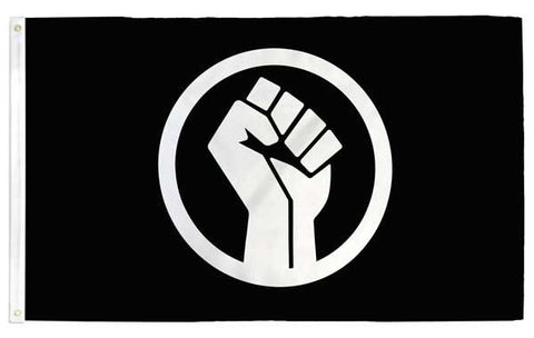 Black Lives Matter (BLM) Fist Flag - Flags For Good