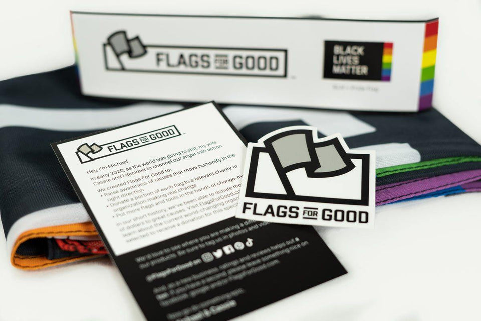Black Lives Matter + Pride - Flags For Good