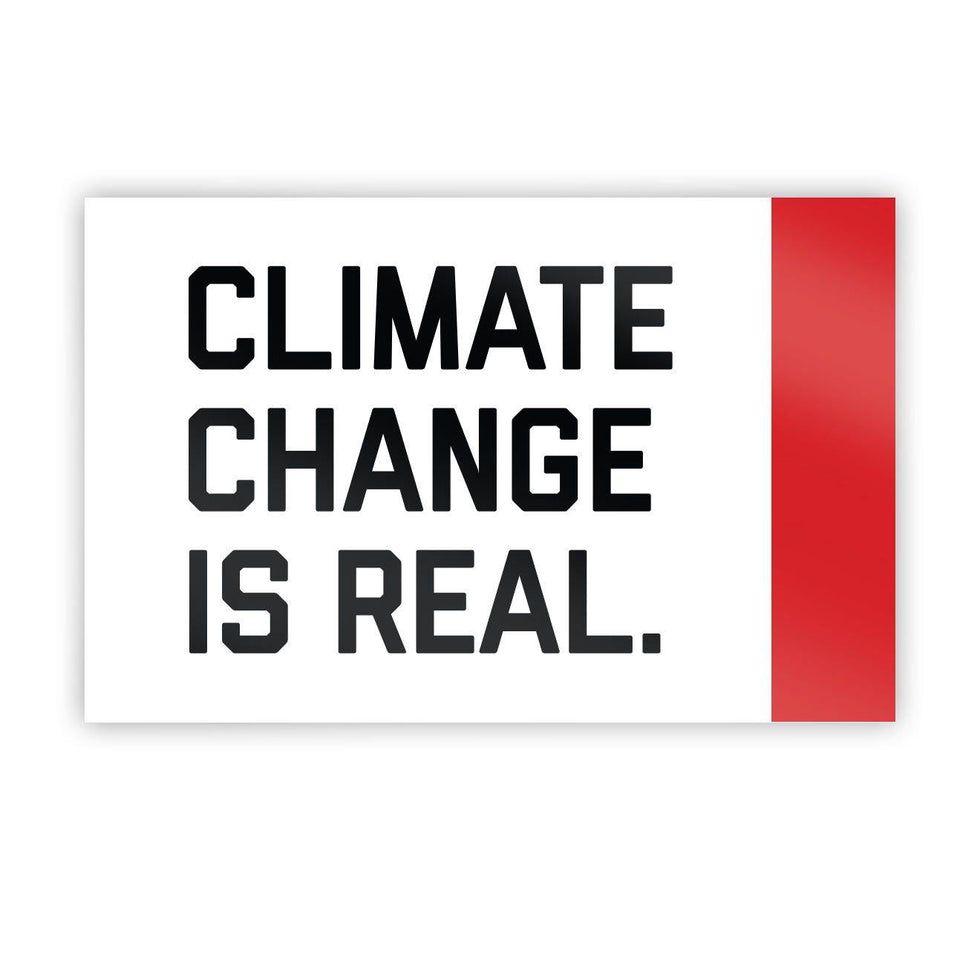 Climate Change Is Real Sticker - Flags For Good