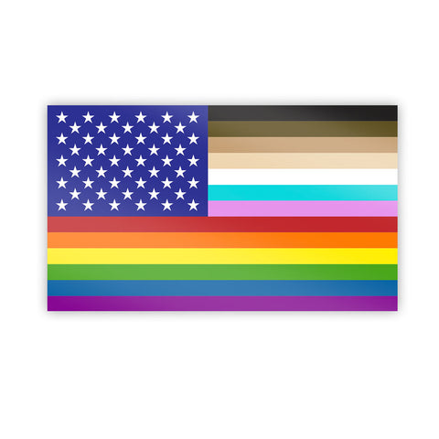 """FOR ALL"" US Flag Sticker - Flags For Good"